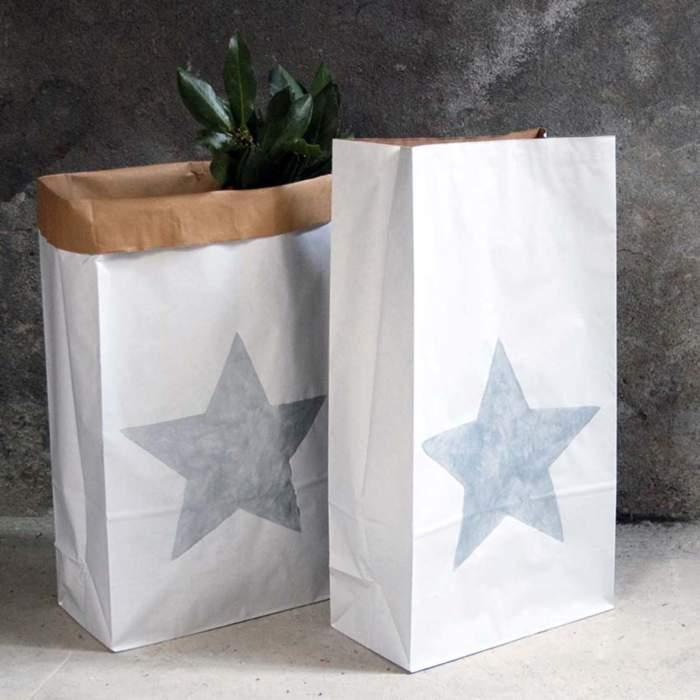 Paperbag kraft blanc
