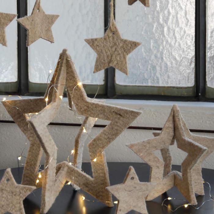 Adjustable star, birch wood