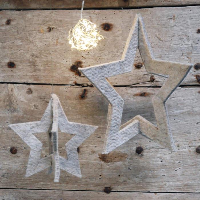 Jeu d'étoiles, feutre