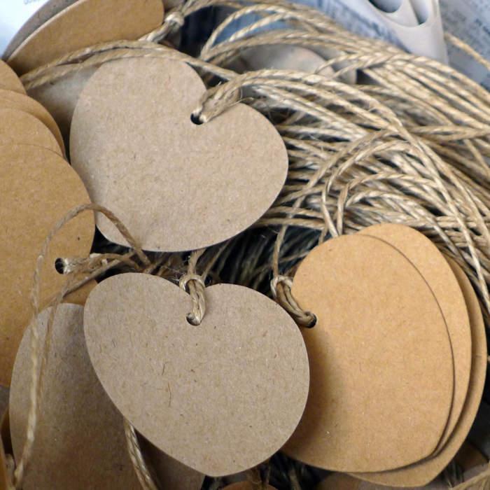 Etiquettes, carton recyclé