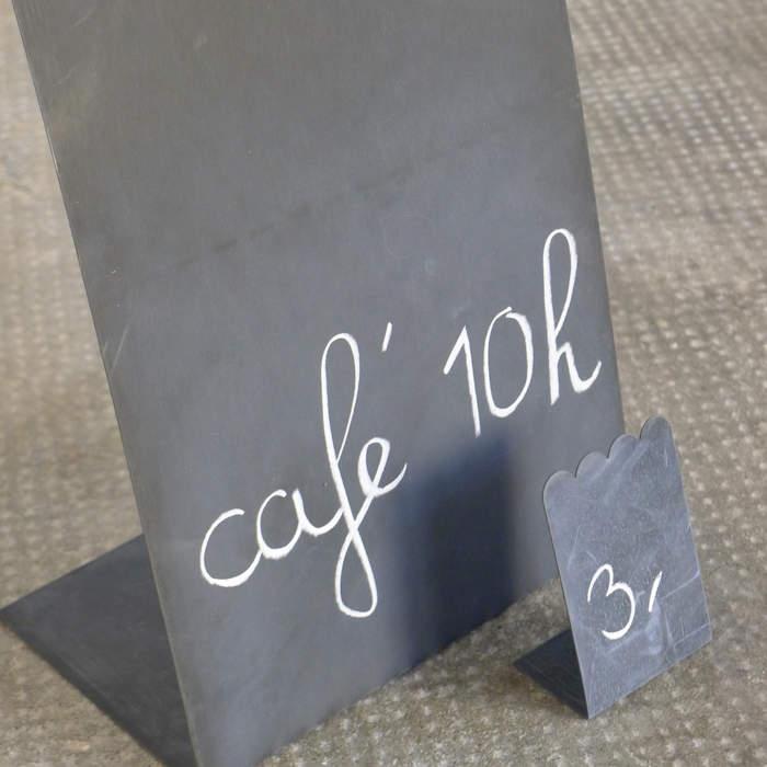 Marque place/prix, feston zinc