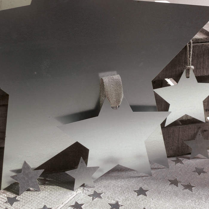 Star, galvanised metal