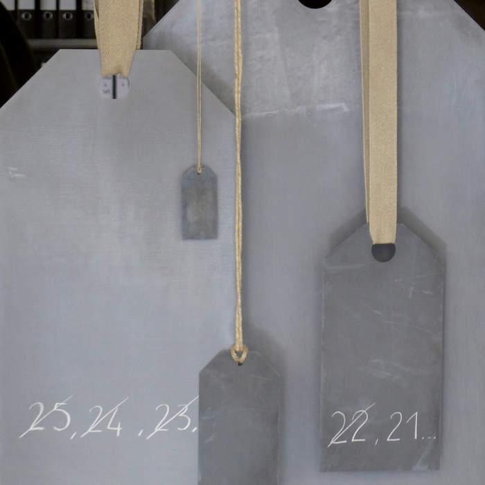 Etiquette américaine, métal galvanisé
