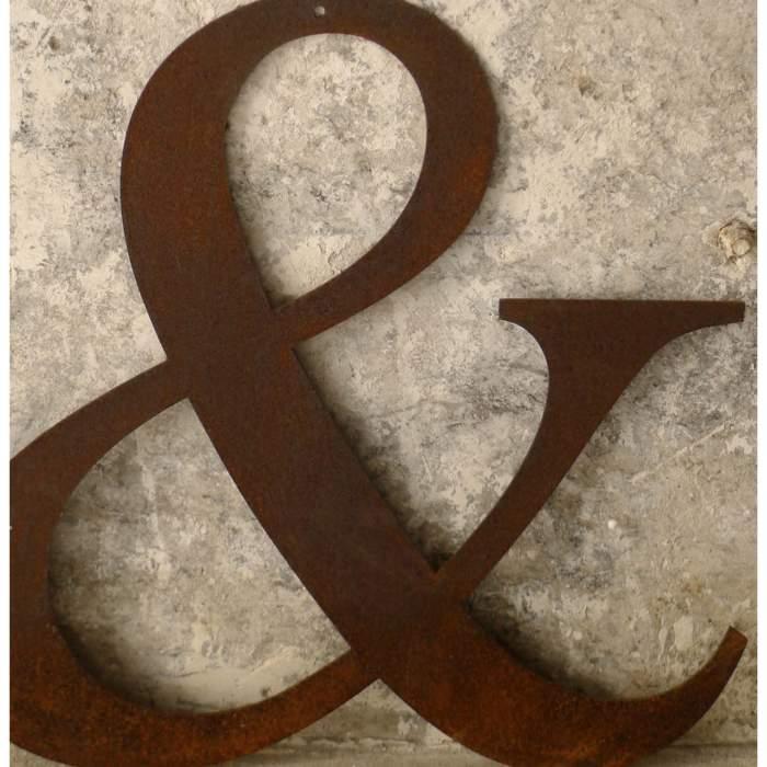Lettre/chiffre, métal rouillé